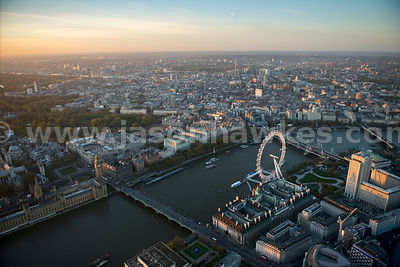 London. Aerial view of Westminster