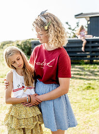 Danish mother and daughter at a Klitmøller summer house