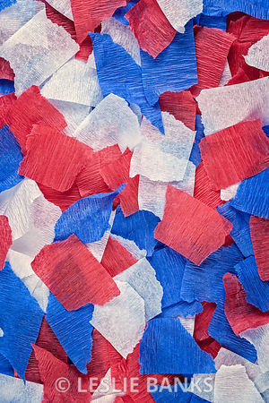 Red, White and Blue Crepe Paper