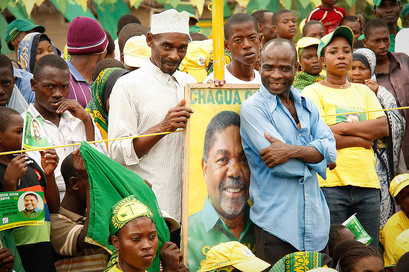 A ruling party Chama Cha Mapinduzi (CCM) pre-election meeting, Zanzibar, 29 September, 2010.
