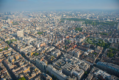 Aerial view of Oxford Street, London