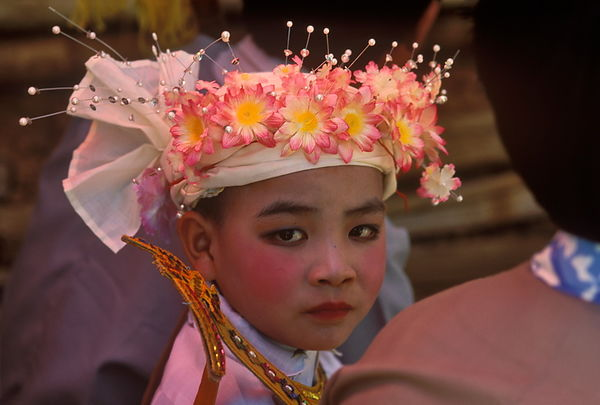 Boy at the Shin Pyu ceremony