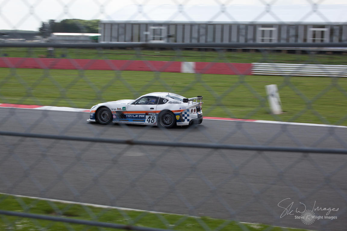 Fox Motorsport Ginetta G55 GT4 in action at the Silverstone 500 - the third round of the British GT Championship 2014 - 1st J...