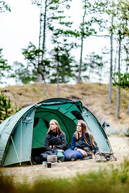 Two girls camping in Denmark 5