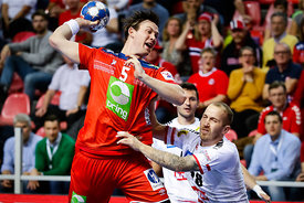 Sander Sagosen during the EHF EURO Croatia 2018 - Preliminary round -  Group B - Norway vs Austria in Zatika Sports Centre, P...