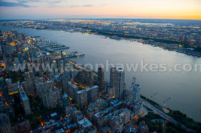 Looking west across the Hudson River from Manhattan to Union City, New Jersey