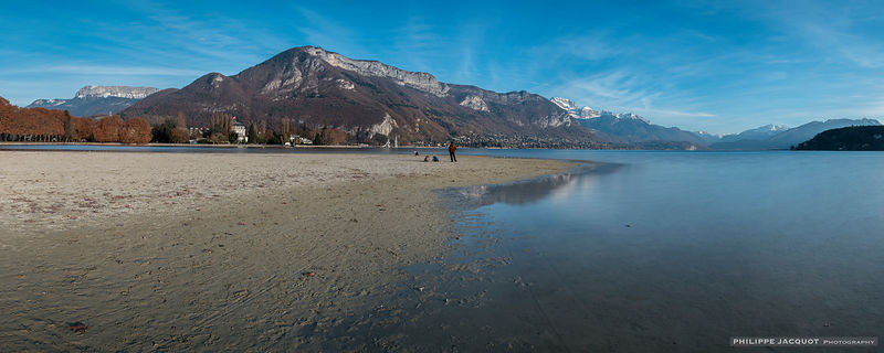 The low water level of the lake on November 28, 2018 (1) - Annecy