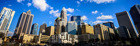 Panoramic Charlotte Skyline Photo