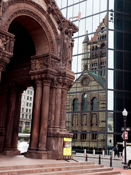 Trinity Church Boston and reflection thereof