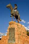 Equestrian statue, commemorating the German soldiers killed during the wars to subdue the Nama and Herero groups, around 1903...