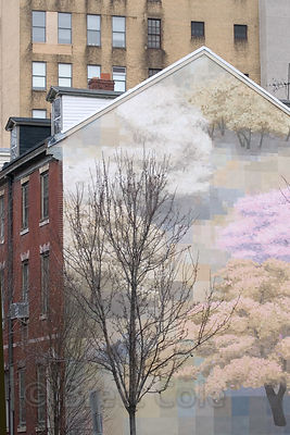 Mural on a building in Philadelphia, Pennsylvania. Philly is famous for its spectacular murals.