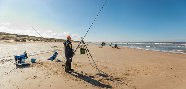 Seafisher on the Northsea shore