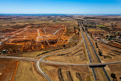 A New housing developent in Melbourne's west called Woodlea inder construction. Australia