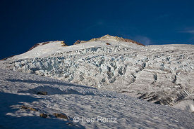 Easton Glacier on the slopes of Mt. Baker looking up to Sherman Crater, Mt. Baker–Snoqualmie National Forest, Washington, USA...