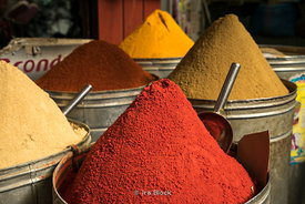 Spices in the medina Marrakech, Morocco.