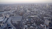 Aerial footage of Lambeth and Southwark, London