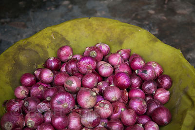 Onions for sale at a market in Bundi, Rajasthan, India