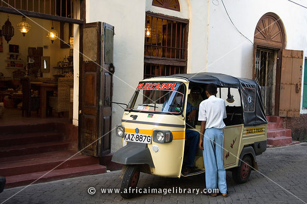 Tuk-tuk in The old Town, Mombasa, Kenya