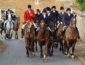 The mounted field arriving at the meet