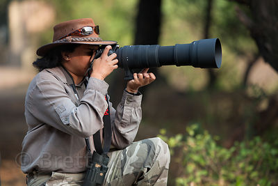 Photographer in Keoladeo National Park, Bharatpur, India