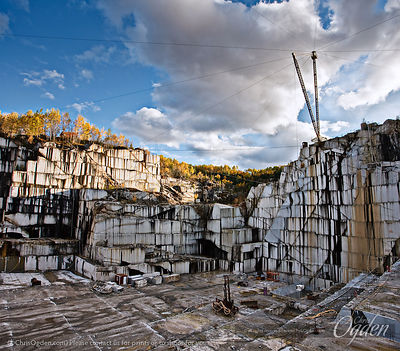 Barre Grey Granite | E.L. Smith Quarry | Graniteville, Vermont, USA | Photo courtesy of Chris Ogden Photography. | www.Quarry...