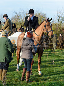 David Applewhite At the meet. The Belvoir Hunt meet at Waltham House 22/12