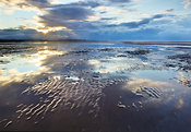 Hoylake beach at sunset