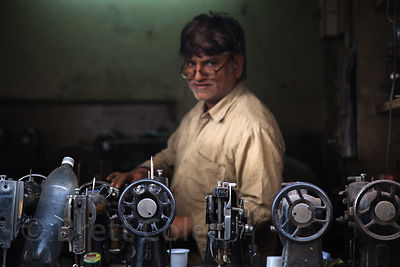 Sewing machine repair man, Jodhpur, Rajasthan, India