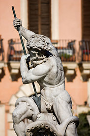 Neptune Fountain on Navona Place, Rome