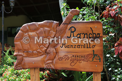 Sign for Rancho Manzanillo Giant Tortoise Reserve, Santa Cruz Highlands, Galapagos