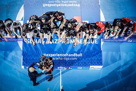 Medal ceremony during the Final Tournament - Final Four - SEHA - Gazprom league, Gold Medal Match Vardar - Telekom Veszprém, ...