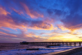 Newport Beach CA Balboa Pier Sunset Photo