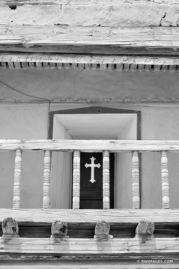 ARCHITECTURE DEATIL SAN JOSE DE GRACIA CHURCH LAS TRAMPAS HIGH ROAD TO TAOS NEW MEXICO BLACK AND WHITE VERTICAL