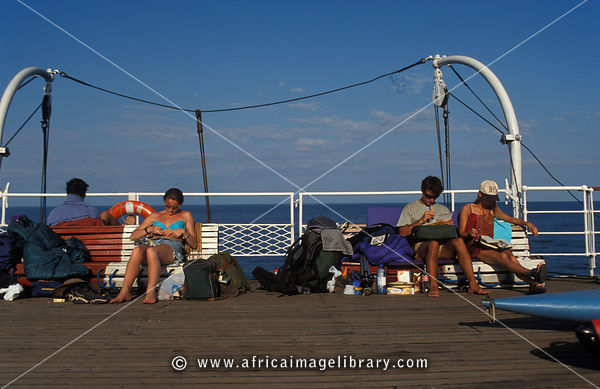 deck of the the MV Ilala lake ferry, Lake Malawi, Malawi