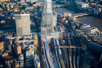 Aerial view of London Bridge Station, London