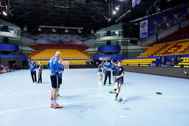 Players during the Final Tournament - Final Four - SEHA - Gazprom league, Team training in Brest, Belarus, 06.04.2017, Mandat...