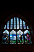 Window depicting the arrival of David Livingstone, Church, Livingstonia, Malawi