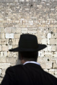 Israel - Jerusalem - A religious Jew praying at the Western ('Wailing') Wall