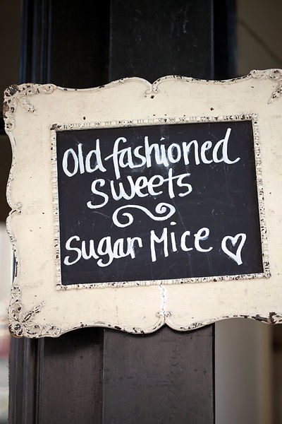 UK - London - A sign in the window of A. Gold, a deli in Spitalfields Market advertising traditional sweets