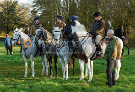 Caroline Harrison At the meet. The Belvoir Hunt meet at Waltham House 22/12