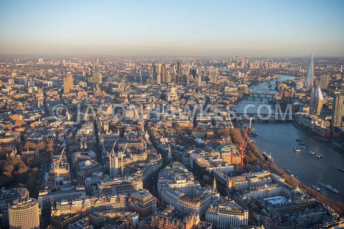 Aerial view of Temple, Fleet St, Temple, Temple, Somerset House, Temple, Temple, London.