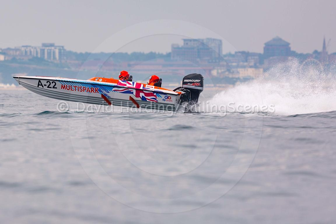 Multispark, A-22, Fortitudo Poole Bay 100 Offshore Powerboat Race, June 2018, 20180610154
