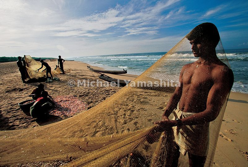 Scales sparkle like jewels, as fishermen clean their nets on Somatheeram Beach, just as when Zheng He sailed along the Malaba...