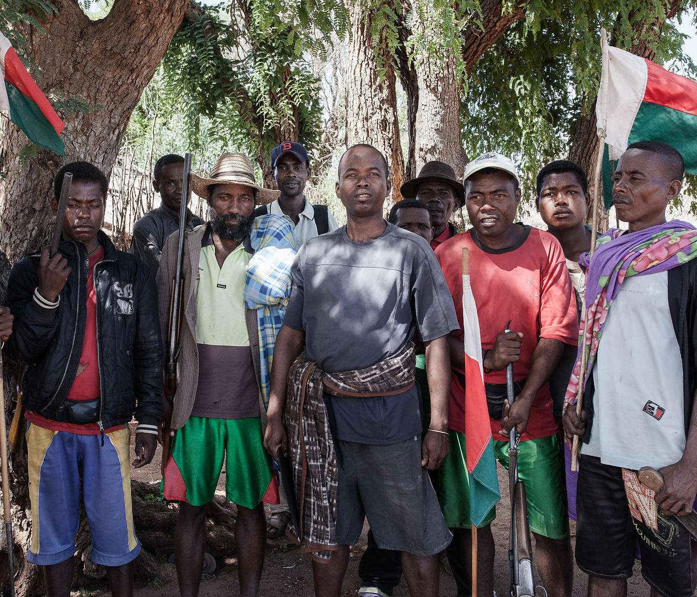 "BEHAHITSE COMMUNE - Members of the Betioky ""fokonolona"" (community) met in Behahitse village, Ampanihy district, southern Mad..."