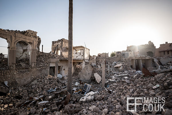 The old town of Sinjar City remains a rubble wasteland eighteen months after the destruction occured during airstrikes as the...
