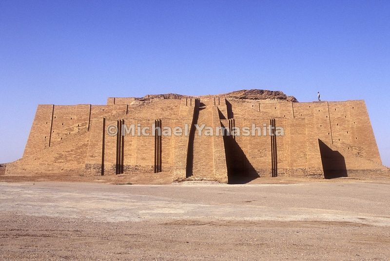 Ziggurat built 4000 yrs ago by the Sumerian.  A place of worship. Iraq's best known antiquities site is now in the middle of ...