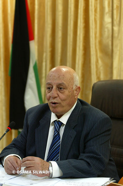 Ahmed Qurei, also known by his Arabic kunya Abu Alaa is a former Prime Minister of the Palestinian National Authority