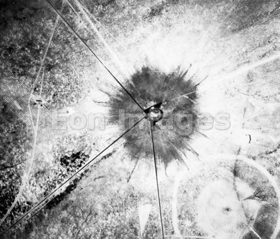 Crater made by test of first atomic bomb, Trinity in 1945