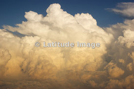 A Developing Squall Line Thunderstorm Over the American Midwest