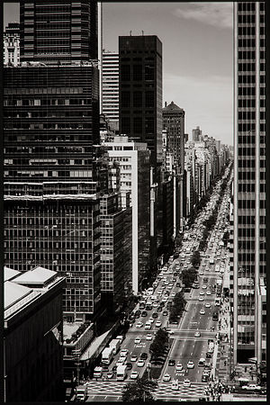 'Park Avenue from the Waldorf Astoria' 1998: Photographer: Neil Emmerson using Agfa Scala 200 and Nikon F3P : £975